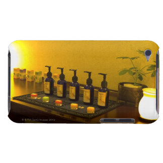 Bottles of aromatherapy oil in the beauty salon, iPod touch Case-Mate case