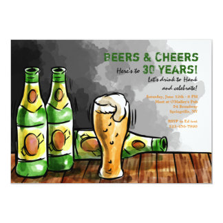 Bottles of Beer Invitation