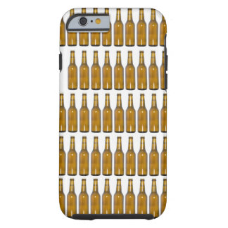 Bottles of beer on white background tough iPhone 6 case