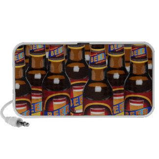Bottles of beer side by side (Digital Composite) iPhone Speaker