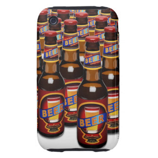 Bottles of beer side by side (Digital Composite) Tough iPhone 3 Case
