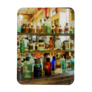 Bottles of Chemicals Green and Brown Rectangular Photo Magnet