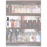 Bottles of Chemicals on Shelves Dry Erase Board