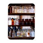 Bottles of Chemicals on Shelves Rectangle Magnet