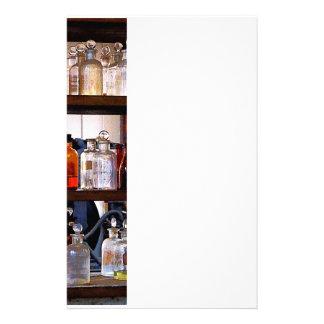 Bottles of Chemicals on Shelves Stationery