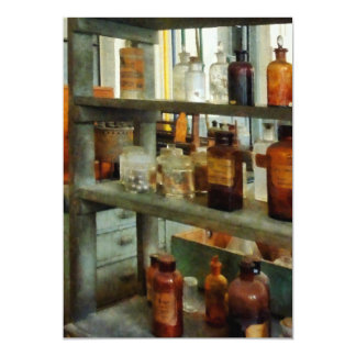 Bottles of Chemicals Tall and Short Card