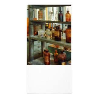 Bottles of Chemicals Tall and Short Personalized Photo Card