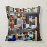 Bottles of Chemicals Throw Pillow