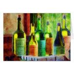 Bottles of Wine Near Window Cards