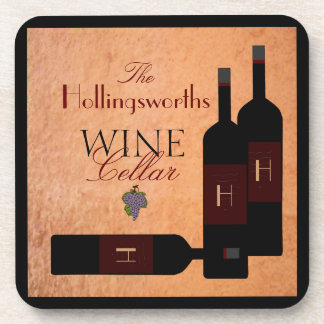 Bottles of Wine -Personalized Beverage Coaster