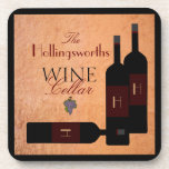 Bottles of Wine -Personalized Drink Coasters