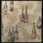 "Bottles of Wine Table Napkins<br><div class=""desc"">Bottles of wine table napkins</div>"