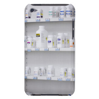 bottles on the shelves at a pharmacy barely there iPod cases