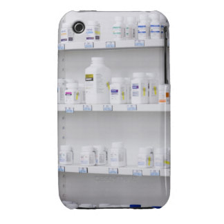 bottles on the shelves at a pharmacy iPhone 3 cases