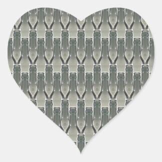 Bottles Photograph Pattern Heart Sticker
