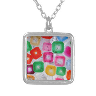 bottles silver plated necklace