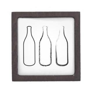 Bottles sketched gift box