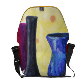 Bottlescape I - Abstract Alice Tea Party Messenger Bag