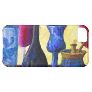 Bottlescape I, Abstract Ruby Alice Tea Party Case For iPhone 5C