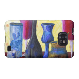 Bottlescape I, Abstract Ruby Alice Tea Party Galaxy SII Case