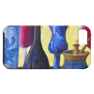 Bottlescape I, Abstract Ruby Alice Tea Party iPhone SE/5/5s Case