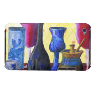 Bottlescape I, Abstract Ruby Alice Tea Party iPod Case-Mate Case