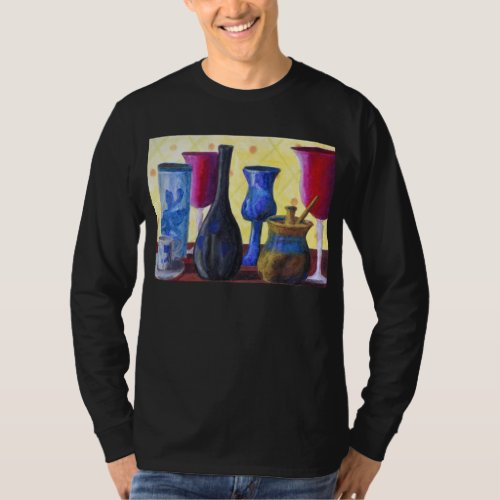 Bottlescape I, Abstract Ruby Alice Tea Party T-Shirt