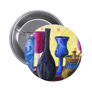 Bottlescape I - Cubilete rojo de rubíes, pote de o Pin Redondo 5 Cm