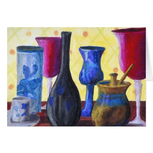 Bottlescape I - Cubilete rojo de rubíes, pote de o Tarjeta De Felicitación
