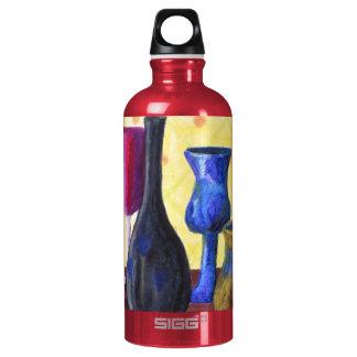 Bottlescape I - Cubilete rojo de rubíes, pote de
