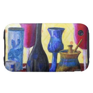 Bottlescape I - Cubilete rojo de rubíes, pote de Tough iPhone 3 Cobertura