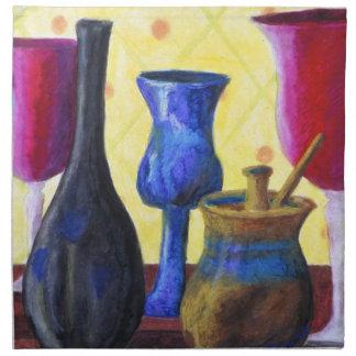 Bottlescape I - Fiesta del té abstracta de Alicia Servilletas De Papel