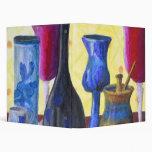 Bottlescape I - Ruby Red Goblet, Golden Honey Pot Binders