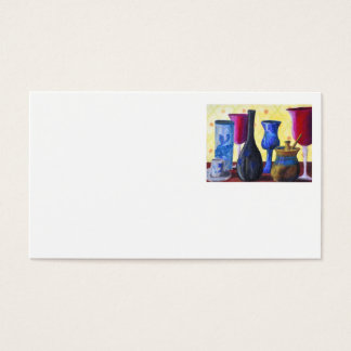 Bottlescape I - Ruby Red Goblet, Golden Honey Pot Business Card