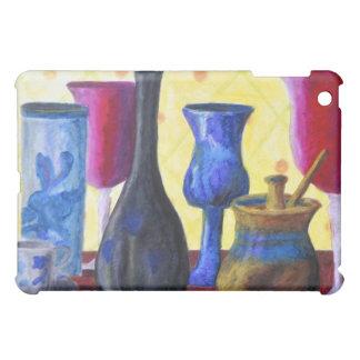 Bottlescape I - Ruby Red Goblet, Golden Honey Pot Cover For The iPad Mini