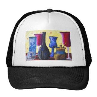 Bottlescape I - Ruby Red Goblet, Golden Honey Pot Trucker Hats