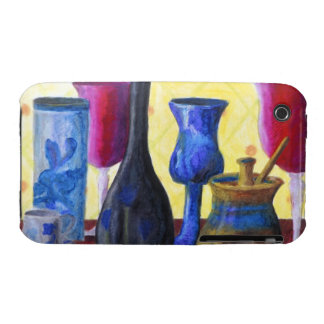 Bottlescape I - Ruby Red Goblet, Golden Honey Pot iPhone 3 Case-Mate Cases