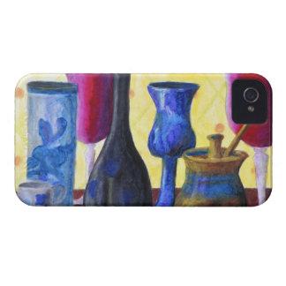 Bottlescape I - Ruby Red Goblet, Golden Honey Pot iPhone 4 Case-Mate Case