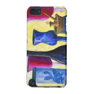 Bottlescape I - Ruby Red Goblet, Golden Honey Pot iPod Touch (5th Generation) Cover