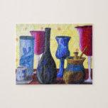 Bottlescape I - Ruby Red Goblet, Golden Honey Pot Puzzle