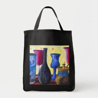 Bottlescape I - Ruby Red Goblet, Golden Honey Pot Tote Bag