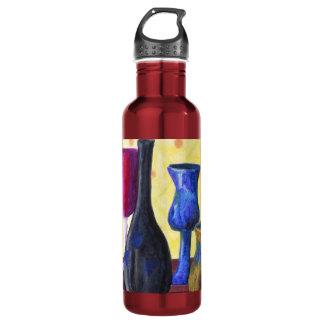 Bottlescape I - Ruby Red Goblet, Golden Honey Pot Water Bottle