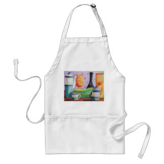 Bottlescape II - Abstract Alice Tea Party Adult Apron