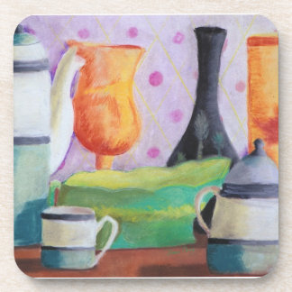 Bottlescape II - Abstract Alice Tea Party Coaster