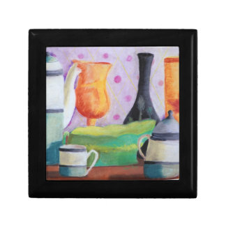 Bottlescape II - Abstract Alice Tea Party Gift Box