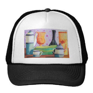 Bottlescape II - Abstract Alice Tea Party Hats