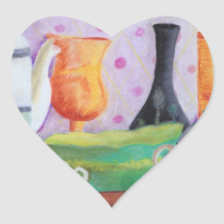 Bottlescape II - Abstract Alice Tea Party Heart Sticker