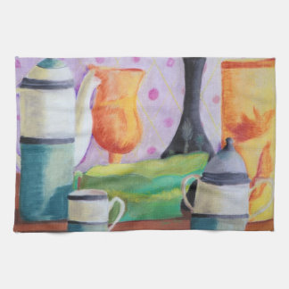 Bottlescape II - Abstract Alice Tea Party Kitchen Towels