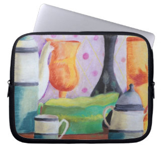 Bottlescape II - Abstract Alice Tea Party Laptop Sleeve