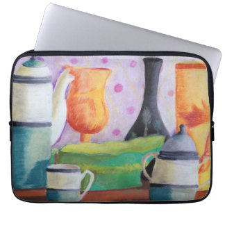 Bottlescape II - Abstract Alice Tea Party Computer Sleeves